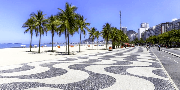 Calçada Portuguesa - Praia de Copacabana, RJ