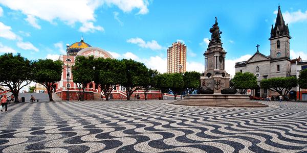 Calçada de Pedras Portuguesas - Manaus