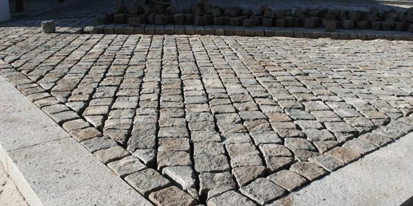 Calçada residencial de Granito