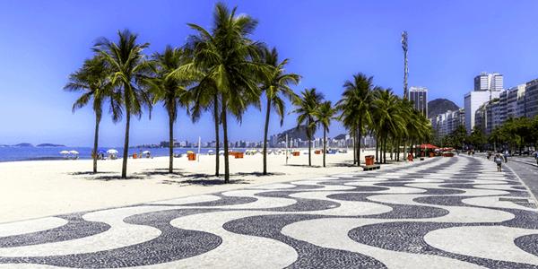 Calçada de Pedra Portuguesa - Copacabana