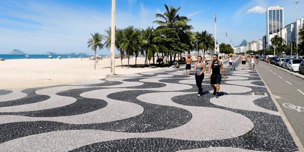 Mosaico Português em Copacabana - RJ