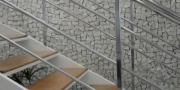 Pedra Portuguesa Branca em Escadas