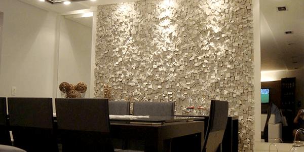 Pedra Portuguesa Branca na Sala de Jantar