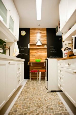 Modelo de Piso de Mosaico Português na Cozinha